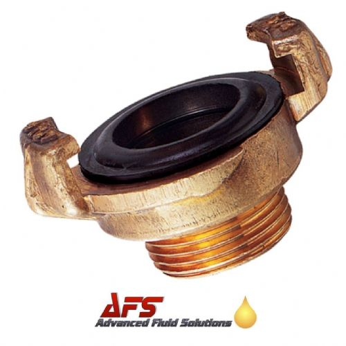 Brass Geka Type Quick Coupling x 1 1/4 BSPT Male Thread